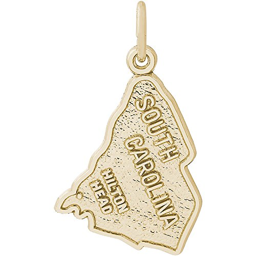 Hilton Head Charm (Rembrandt Charms 14K Yellow Gold S Carolina Hilton Head Charm (0.64 x 0.83 inches))