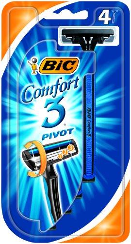 Bic Comfort 3 Pivot Pack 4 Triple Blade Razor