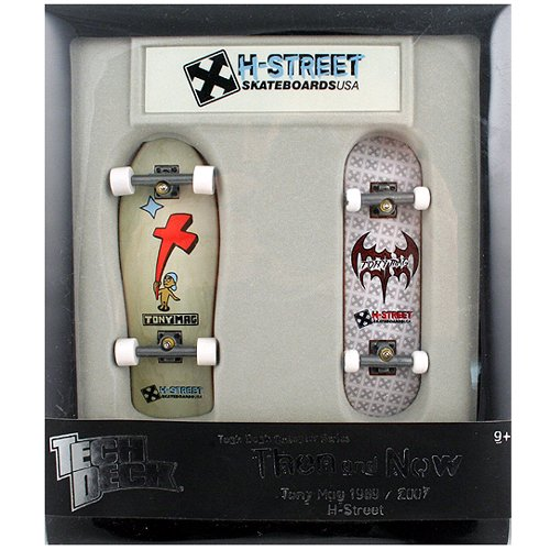 Tech Deck - Collector Series - Fingerboards - Then and Now - Tony Mag - 1989/2007 - H-Street by Tech Deck