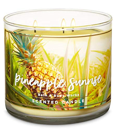 Bath and Body Works Pineapple Sunrise Scented 14.5 oz Candle (Pineapple, Lime, Coconut Musk)
