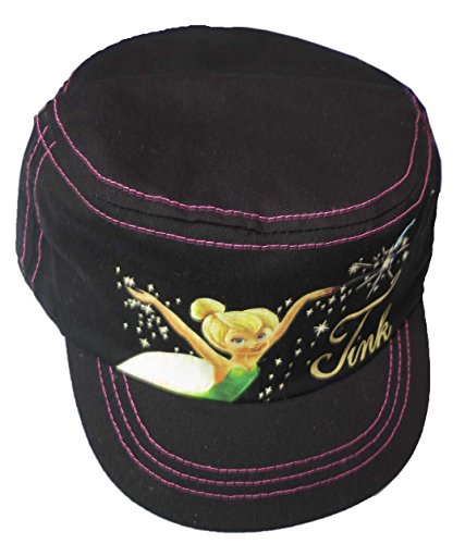 Disney Fairies Tinkerbell Black Girl's Cadet Cap [2012] (Tinkerbell Items)