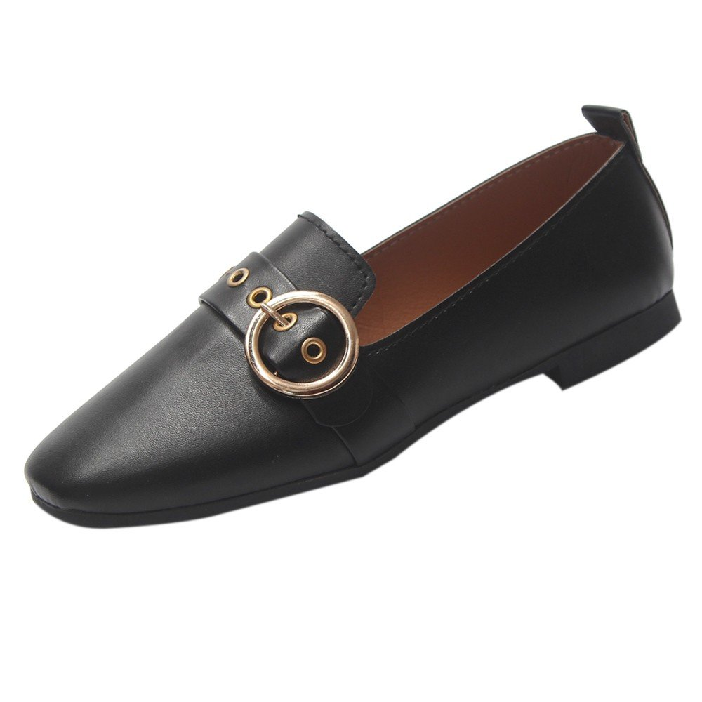 Nevera Women's Flat Classic Penny Slip On Slide Loafer Fashion Loafer Shoes Black
