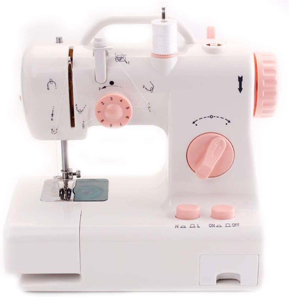 HAIK Mini máquina de Coser, de Aguja, Hilo de Punto de cadeneta de Dos de Alta/Baja Velocidad Selector Máquina de Coser