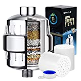 SITAFL 15 Stage Universal Vitamin C Shower Filter with 2 Replacement Cartridges, Reduce Impurities,...