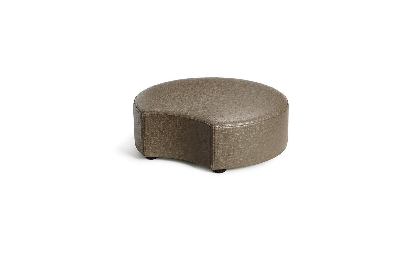 Logic Furniture MOONCTP06 Moon 2 Crescent Ottoman, 6'', Taupe