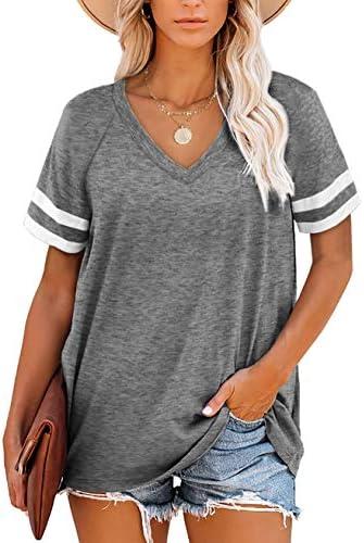 Grace's Secret WomensTops Summer Top for Women Short Sleeve Casual Loose Tunic Top Shirts