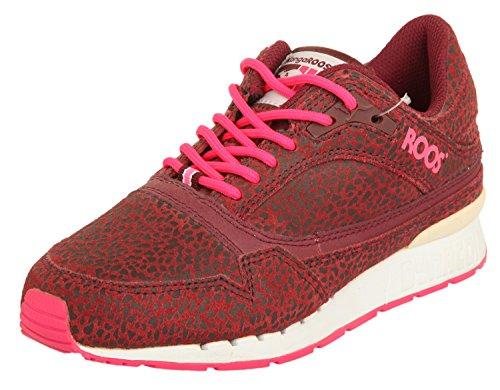430240 burgundy ANIMAL KangaROOS burgundy neon pink Women neon 669 pink RAGE suede pw6vq