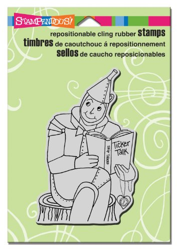 (STAMPENDOUS Cling Rubber Stamp, Tin Man Reader)