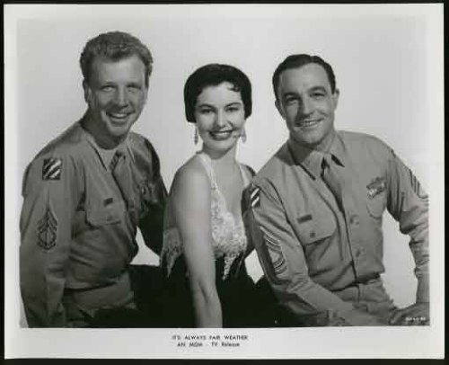 Original Cyd Charisse & Gene Kelly & Dan Dailey It's Always Fair Weather Cheesecake Pinup Publicity Photo (1960's TV Release)