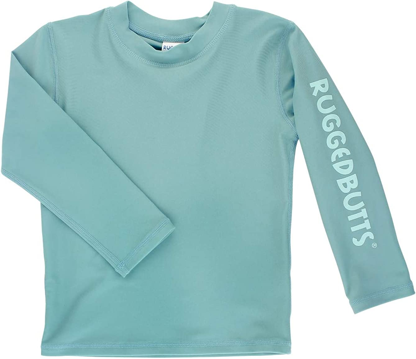 RuggedButts Boys Marine Blue Logo Long Sleeve Rash Guard 4T