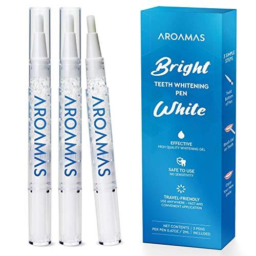 Aroamas Teeth Whitening Pen, 3 pack, Whitening Gel (Best Inexpensive Teeth Whitener)
