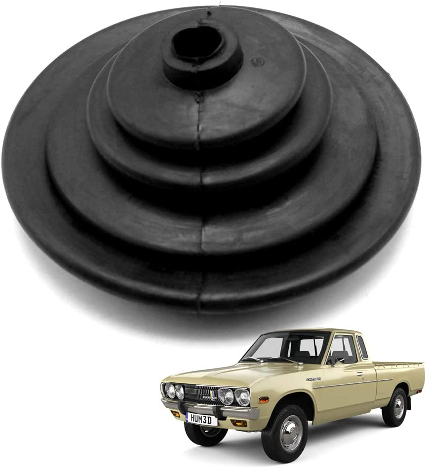 Nonstops Rubber Gear Shift Lever Boot Cover Black for Datsun 620 Pickup 1972-1979 Black