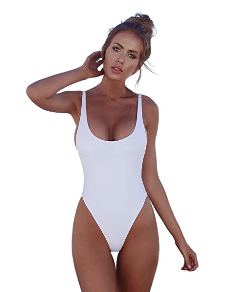26d32d9426f ZOIZLLA One Piece Swimsuits Bathing Suit Swimwear Sexy Beachwear Swimdress Monokini  Bikini Set at Amazon Women s Clothing store
