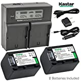 Kastar LCD Dual Smart Fast Charger & 2 x Battery for Sony NP-FV70, NP-FH70 and FDR-AX53, HDR-CX675, HDR-CX455, HDR-CX900, TD30V, HDR-PV710V, HDR-PJ670, HDR-PJ810, HDR-TD30V, FDR-AX33, FDR-AX100
