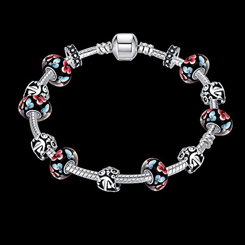 JINGB Home Fashion Loose Beads DIY Bracelet European and American Silver Bell Beaded Jewelry