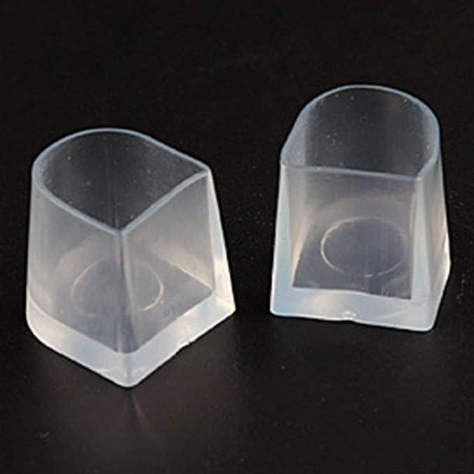 Transparente M 1 par Cubiertas protectoras de tac/ón alto Cubiertas de baile con estilete latino Tapones para talones Antideslizante Desgaste