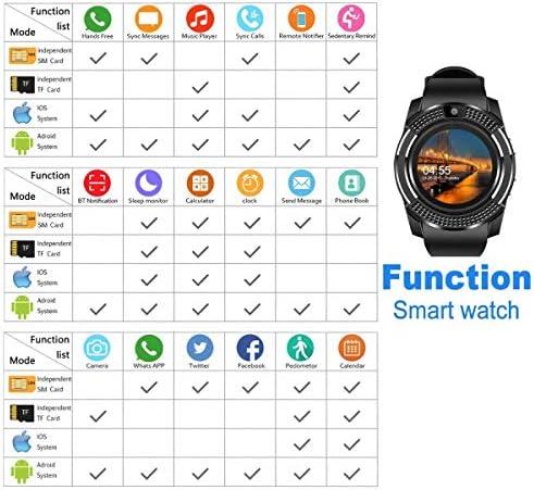 Amazon.com: Bluetooth Smartwatch Fitness Watch Wrist Phone ...