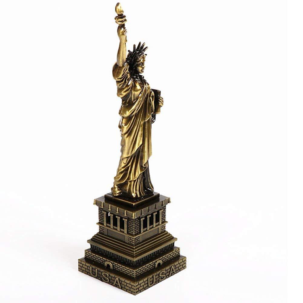 Statua Statuetta Arte Cristiana Modello Decorazione casa Ottone Antico Ghisa Windmill