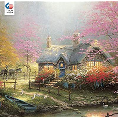 Thomas Kinkade Inspirations Collection Stepping Stone Puzzle - 300Piece: Toys & Games