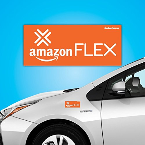 Amazon Flex Car Magnet – Not Sticker/Decal – Easy Install/Remove (Amazon Magnets)
