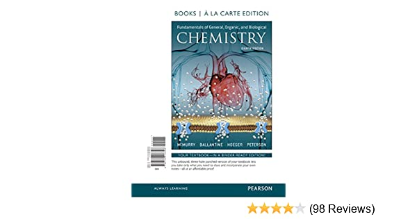 Fundamentals of General, Organic, and Biological Chemistry, Books a