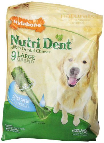 Nylabone Nutri Dent Extra Fresh 9 Count Pouch, Large for Dog