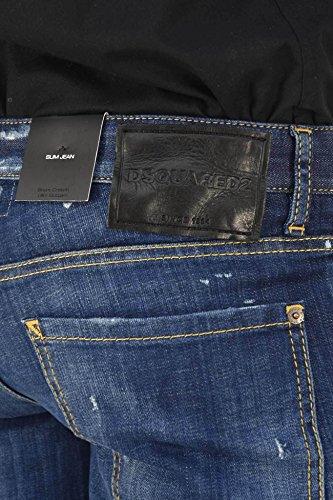 Made Jean In Italy Slim Nera Blu 46 Colore Dsquared2 Etichetta Uomo Taglia 5z4nq