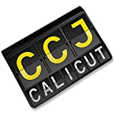 RFID Passport Holder CCJ Airport Code for Calicut, Cover Case / Wallet - Neonbl