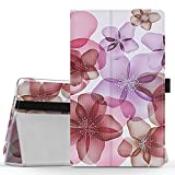 MoKo Lenovo Tab3 A8 / Tab2 A8 Case, Ultra Compact Premium Slim Folding Stand Cover Case for 2015 Release Lenovo Tab 2 A8-50, 2016 Release Lenovo Tab 3 8 (TB3-850F) 8-Inch Tablet, Floral Purple