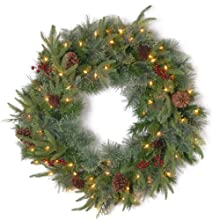 "National Tree 30 Inch ""Feel Real"" Colonial Wreath with Berries (PECO4-306-30W-1)"