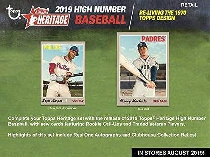 Amazoncom 2019 Topps Heritage High Number Baseball Blaster Case