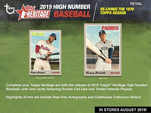 2019 Topps Heritage High Number Baseball Blaster Case (16 Boxes/8 Packs/9 Cards) ()