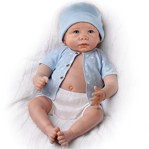 The Ashton-Drake Galleries Lifelike Sweet Baby Liam Baby Boy Doll Is Fully Poseable (Ashton Drake Dolls Boy)