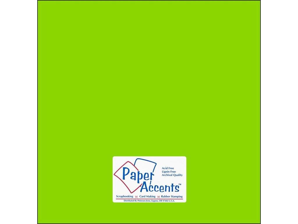アクセントデザイン ペーパーアクセント Cdstk スムーズ 12x12 65#ライムグリーン 25ピース B0018N2696