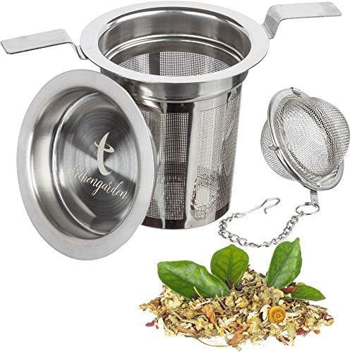 """Herbs Spices Tea Infuser Stainless Steel Mesh Tea Ball F// Loose Leaf Tea 2/"""""""
