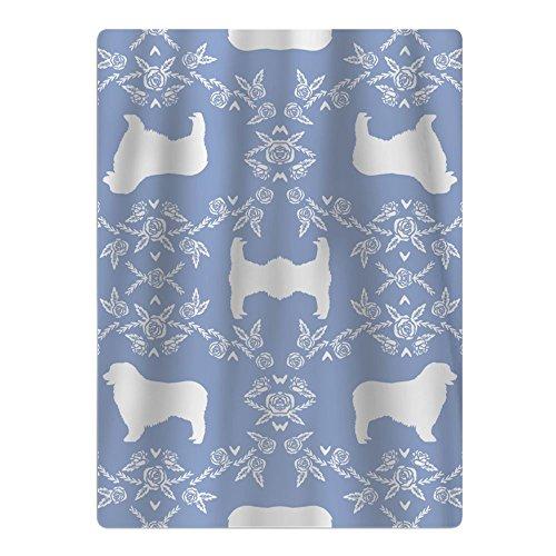 LOIOI67 Australian Shepherd Florals Silhouette Dog Cotton Pool/Beach/Bath Towel Toddler Boy Girls