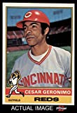 1976 Topps # 24 Cesar Geronimo Cincinnati Reds (Baseball Card) Dean's Cards 7 - NM