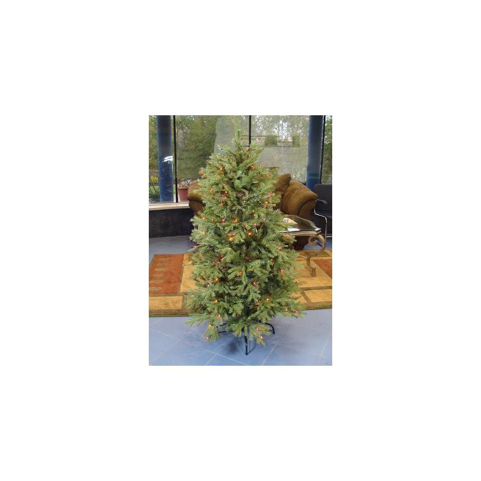 4.5 Pre Lit White Pine Fir Artificial Christmas Tree
