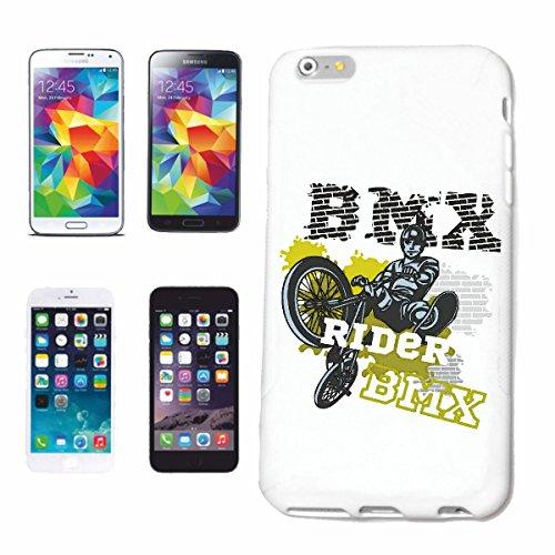 caja del teléfono iPhone 7S BMX BICICLETA BICICLETA piloto de motocross FREESTYLE Chopper MOUNTAINBIKE Caso duro de la cubierta Teléfono Cubiertas cubierta para el Apple iPhone en blanco