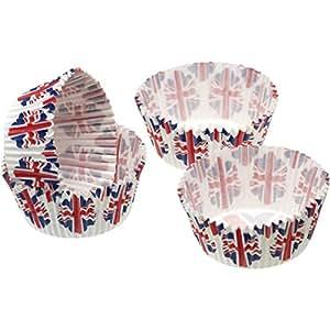 Kitchen Craft Sweetly Do It Union - Estuche para Tartas (60 Unidades, 7 x 12 x 16 cm), diseño de Bandera de la Unión