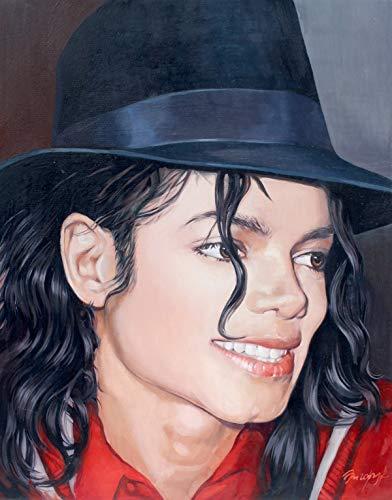 PRINT Michael Jackson portrait Painting on canvas Poster King of pop Moonwalker Fun gift
