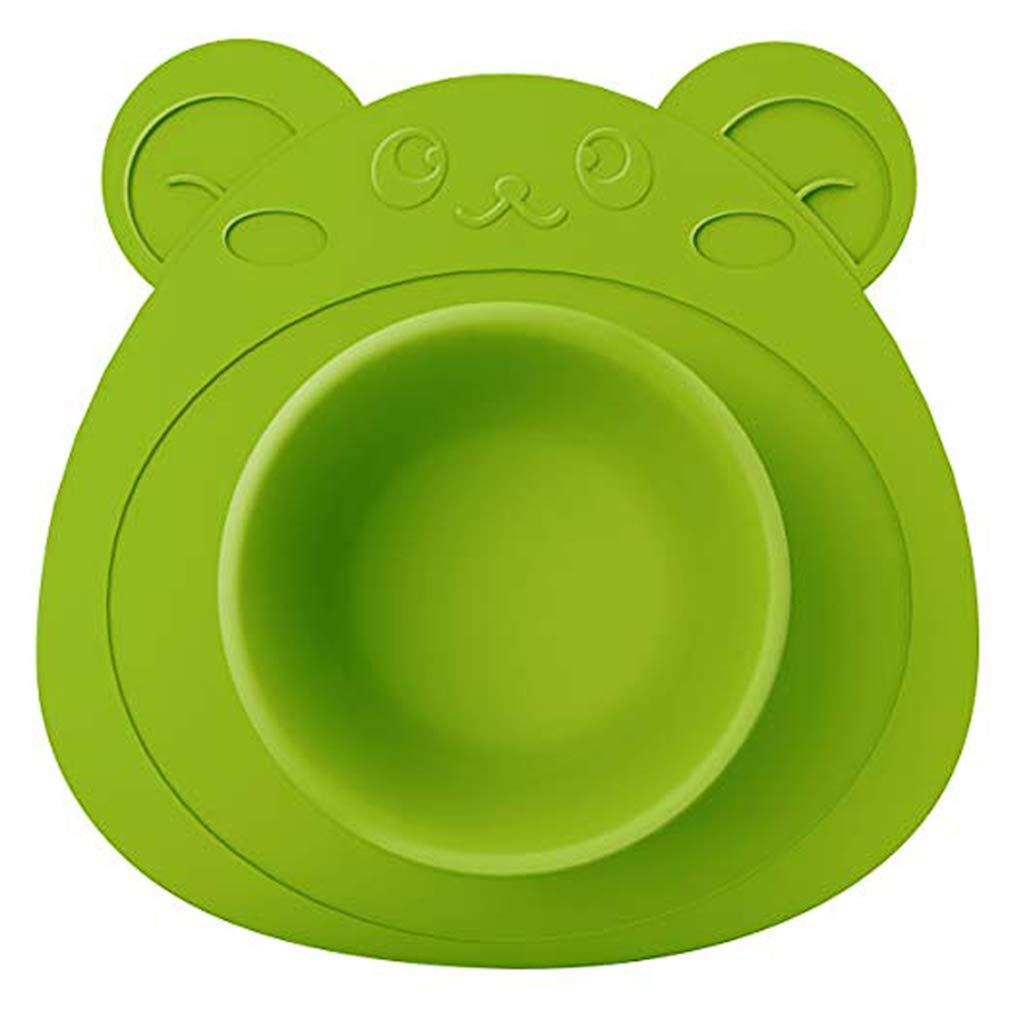 Zhongke Baby Set de table en silicone ourson bol alimentaire Toddlers Plate Dish Incassable non-Slip Sip Pads plaque de sécurité Safe, sans BPA, Appetit Pour les enfants Zhongke Network technology Ltd