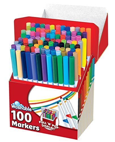 RoseArt SuperTip Assorted Color Washable Markers 100-Pack by Rose Art (Image #3)