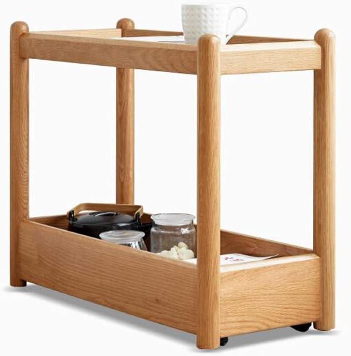 XIAOLIN 2段ガラス小さなサイドテーブルスクエアエンド時折コーヒーテーブルと収納棚ウッドルックアクセントテーブル