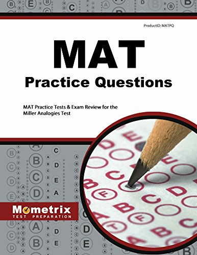 Pdf Test Preparation MAT Practice Questions: MAT Practice Tests & Exam Review for the Miller Analogies Test