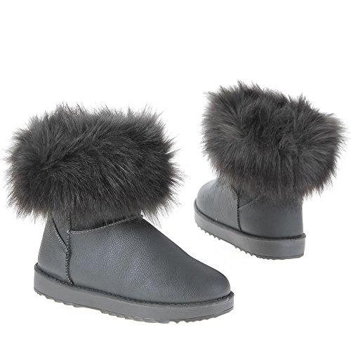 Ital-Design - Botas Antideslizantes mujer gris - gris