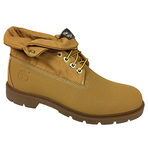 Timberland Men's Basic Roll Top TecTuff Scuff Proof Leather Boots (8.5, Wheat)