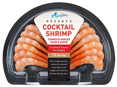 - Aqua Star, Half Moon Cooked Shrimp With Sauce, 8 oz (Frozen)
