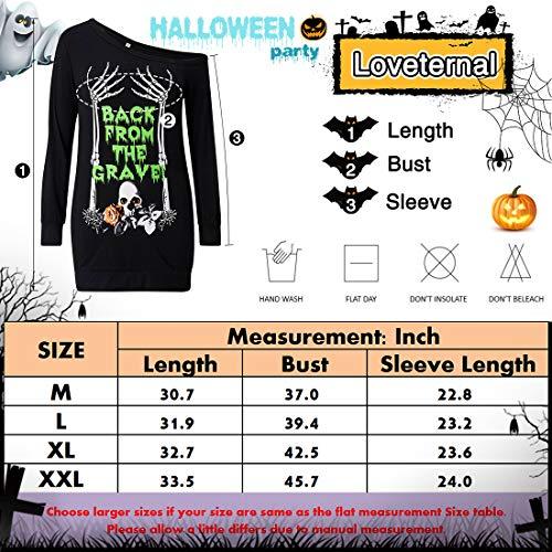 Shoulder Black 3 Long Sleeve Off Loveternal Shirt Dress One Women's Sweatshirt Top Sexy Halloween Printed FqwEASO