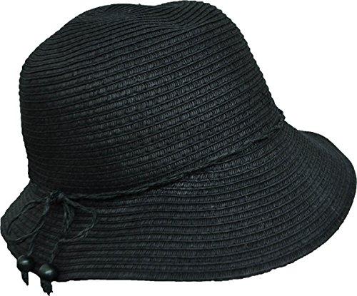 c76211ce8a91c August Hats Co Women's Vintage Classic Cloche Hat Black